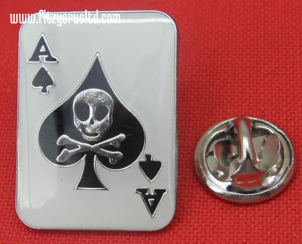 Ace of Spades Gambler Lapel / Hat / Cap / Tie Pin Badge - Brooch - Poker - New